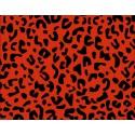 Papel Regalo Print Leopardo Rojo-Negro.