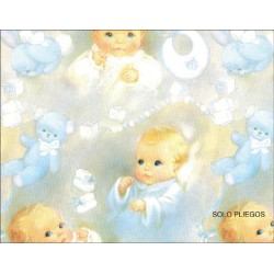 Papel Regalo Infantil Bebes